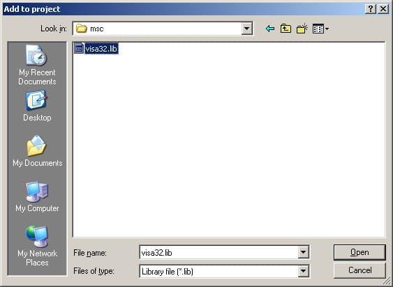 C:\Program Files\IVI Foundation\VISA\WinNT\lib\ms\cvisa32.lib folder location